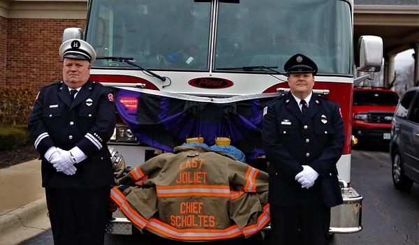 East Joliet Fire Department Funeral Service For Fire Chief Robert Scholtes 12-30-2019
