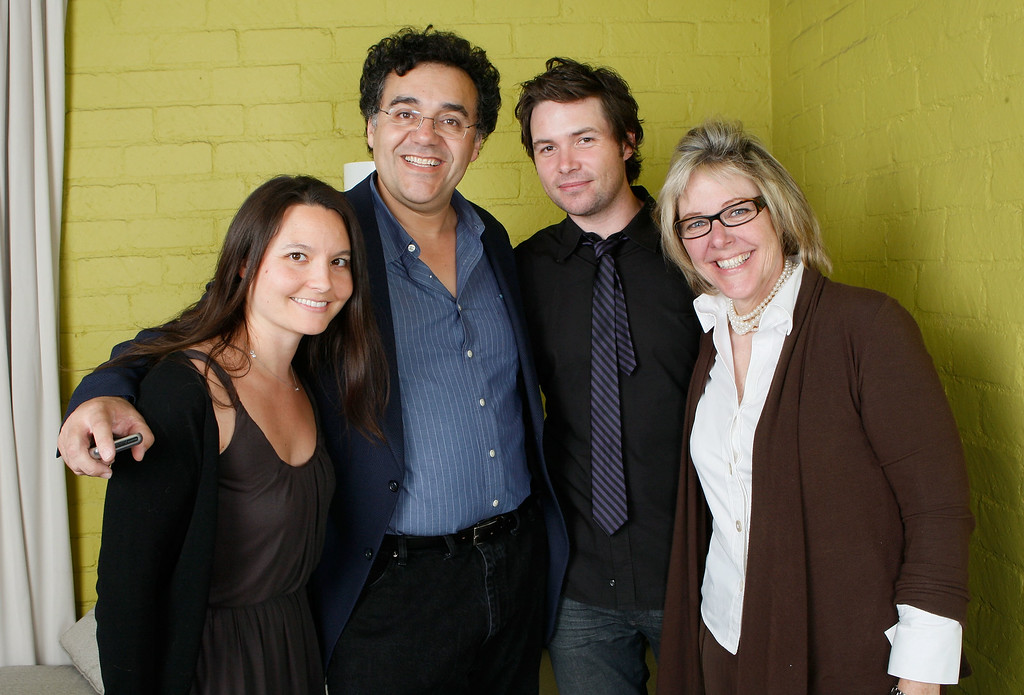 """. Writer/director Rodrigo Garcia, American Idol contestant Michael Johns (C) and guests pose for a portrait during the Australians In Film 2008 \""""Breakthrough Awards\"""" held at the Avalon Hotel on June 5, 2008 in Los Angeles, California.  (Photo by Michael Buckner/Getty Images)"""