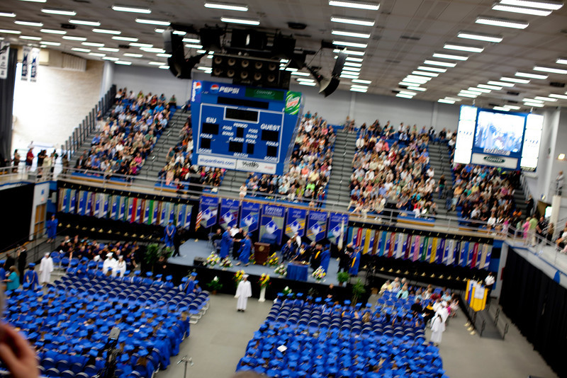 EIU Spring Commencement held in the Lantz Gym on the campus of Eastern Illinois University on May 7, 2011. (Photo by Hunter Grabiec)