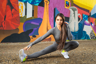 Fitness Shoot in Calgary's East Village