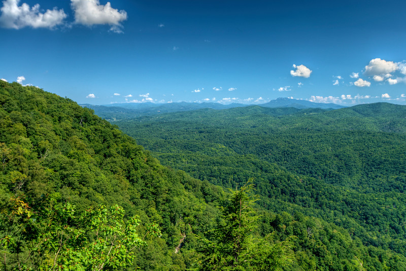 Chestoa View Overlook on the Blue Ridge Parkway in North Carolin