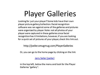 Player Galleries