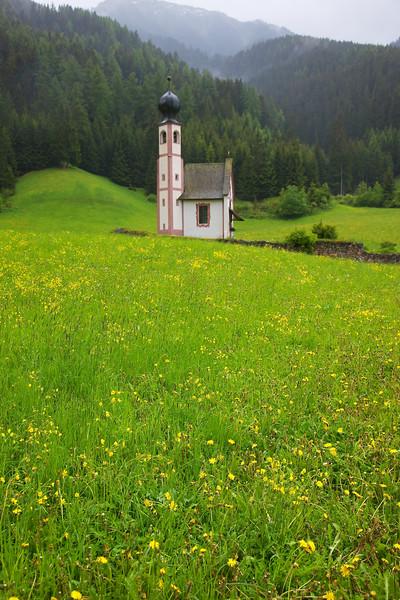San Giovanni Church Profile nestled in Val di Funes