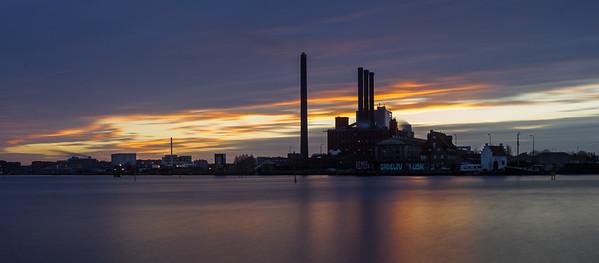 Sunset Behind the H.C. Ørsted Plant