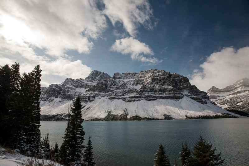Bow Lake near Crowfoot Glacier
