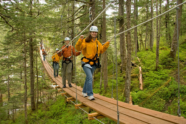 June 15, 2008 - Zipline Adventure - Juneau, Alaska