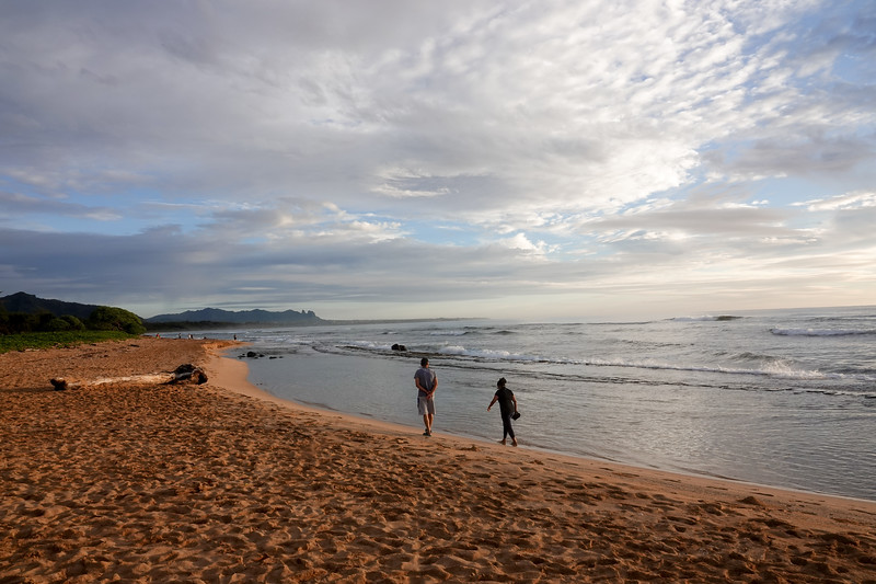 A morning Kauai beach stroll