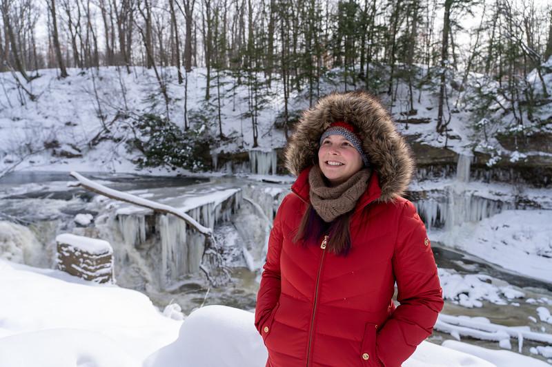 Amanda at Viaduct Park in winter