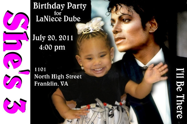 Happy Birthday LaNiece - She's 3