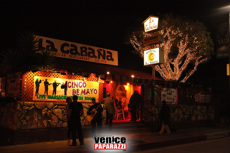 La Cabana open till 3:00 a.m. nightly.  La Cabana.  738 Rose Ave., Venice, CA 90291   310-392-7973   http://www.lacabanavenice.com.  Photos by Venice Paparazzi.  Make your next event truly memorable with your own personal paparazzi.  http://www.venicepaparazzi.com