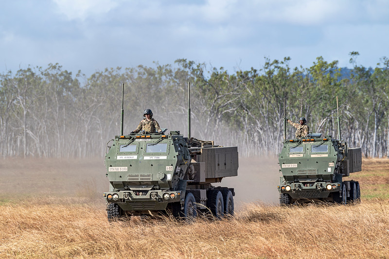 Exercise Talisman Saber 2019.  Combined Aus/US exercise firing the HiMARS - High Mobility Artillery Rocket System.