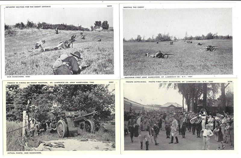 CANTON NY ARMY MANEUVERS  1940