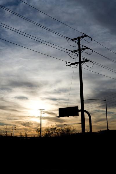 Telephone Pole Sunset