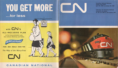 1961 April 30 Canadian National Railways System Timetable