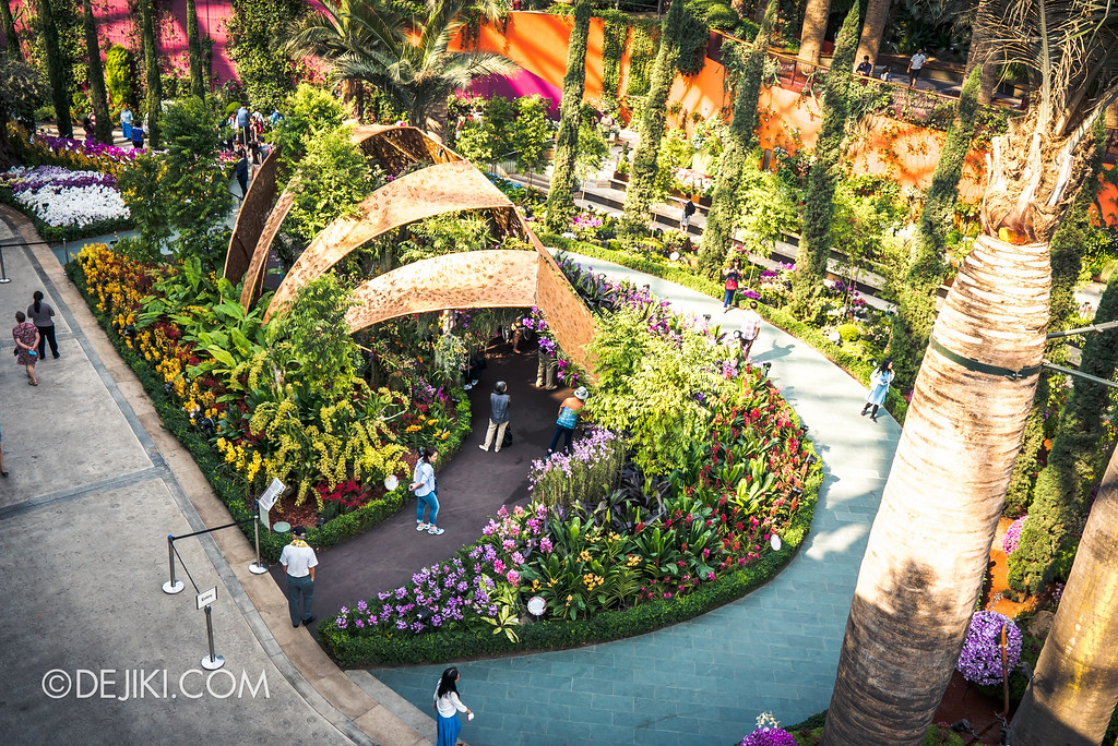 Gardens by the Bay Flower Dome - Orchid Extravaganza Floral Display 2017 / Chrysalis overview