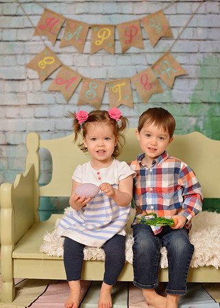 Wyatt & Ava {easter mini}