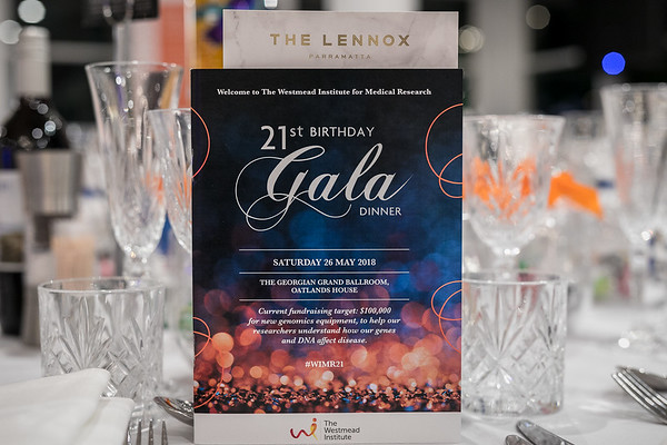The Westmead Institute for Medical Research 21st Gala Dinner 2018