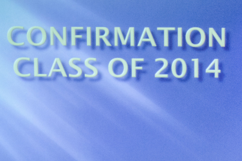 CHUM Confirmation Class 2014