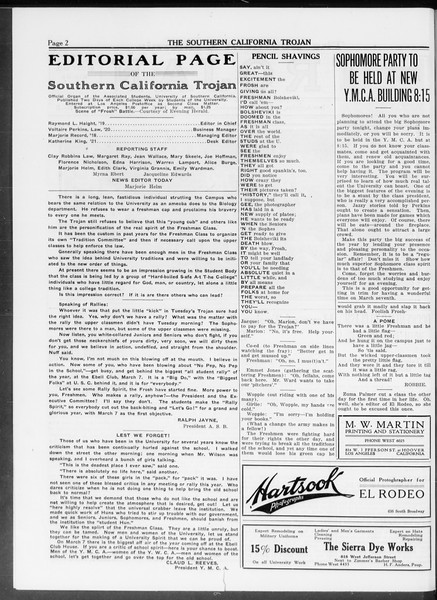 The Southern California Trojan, Vol. 10, No. 3, February 27, 1919