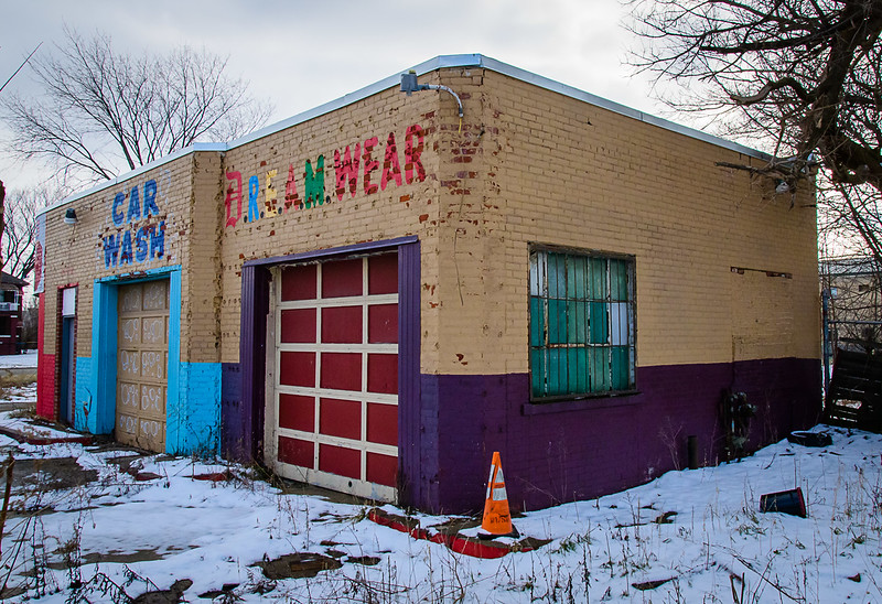 Defunct Business, Winter, East Side Detroit