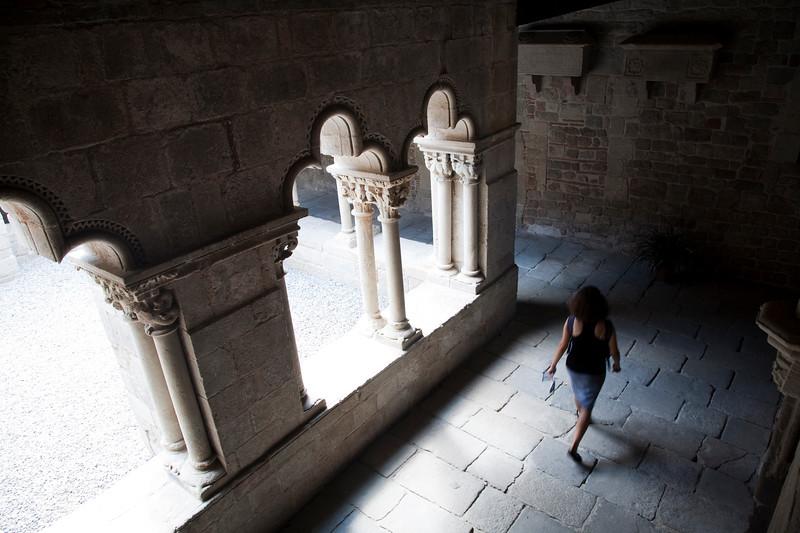 Sant Pau del Camp cloister, town of Barcelona, autonomous commnunity of Catalonia, northeastern Spain