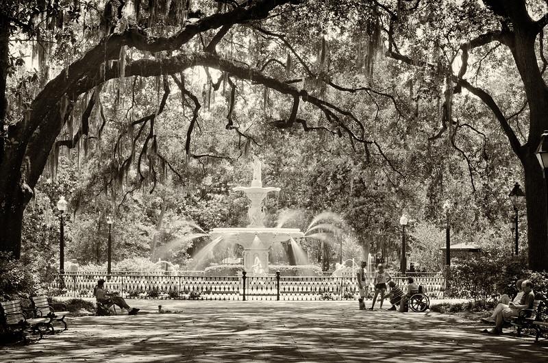 Fountain in Forsythe Park, Savannah, Georgia