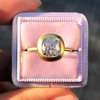 2.05ct Antique Cushion Cut Diamond Chunky Bezel with pave setting GIA J SI2 9