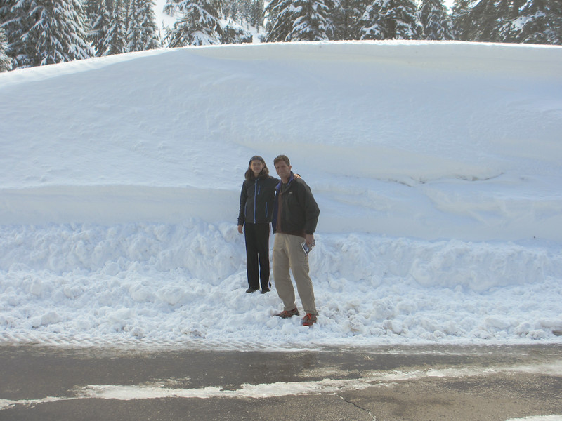 the snow was that high.