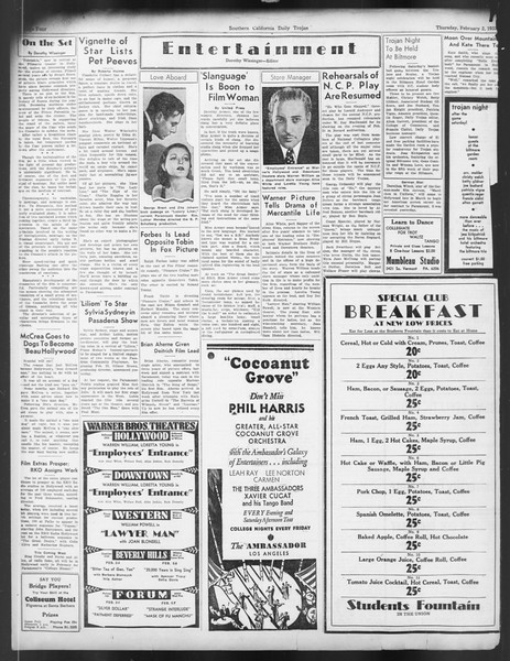 Daily Trojan, Vol. 24, No. 77, February 02, 1933