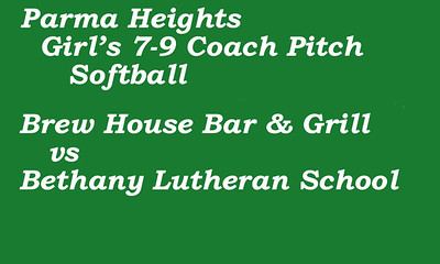 170715 Parma Heights Girl's Coach Pitch Softball Field 2
