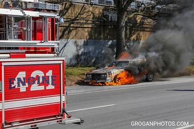 Sunrise Hwy car fire 3/15/18