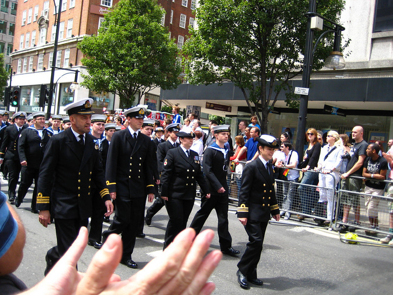 I am guessing that gays working in various organizations came out to show their colors - here looks like the Navy.