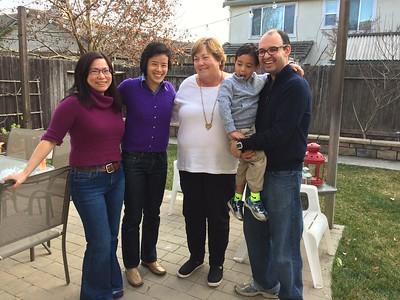 Lunch w/ Carol, Jafar, Anna, Ruey-Wen 12-30-17