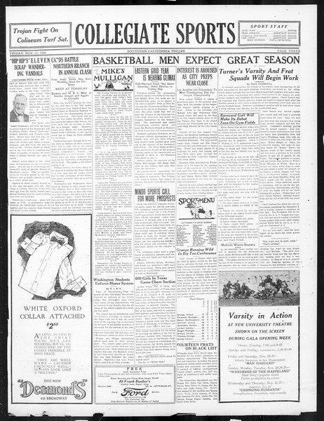 The Southern California Trojan, Vol. 16, No. 26, November 21, 1924