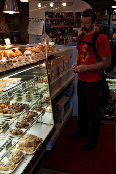 Buying pastries near Pikes Place.