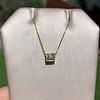 .70ct French Cut Diamond Bezel Pendant, 18kt Yellow Gold 4