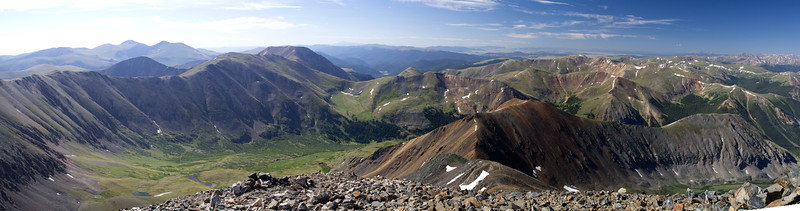 Looking West from Gray's Peak (CO)