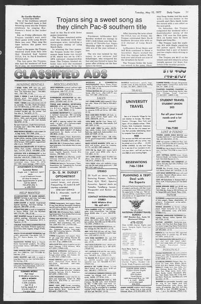 Daily Trojan, Vol. 71, No. 56, May 10, 1977