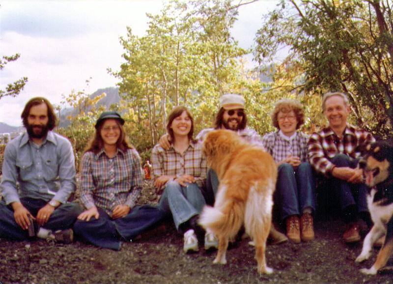 Dan,Terry,Connie,Griz,Dave,Bonnie,Wayne,Tundra at Lake Dezadeash, 8-81.jpg
