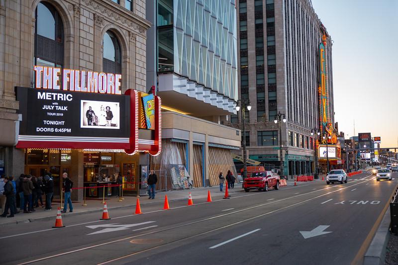 2019 March 25, Metric - The Fillmore Detroit: Joe Alcodray