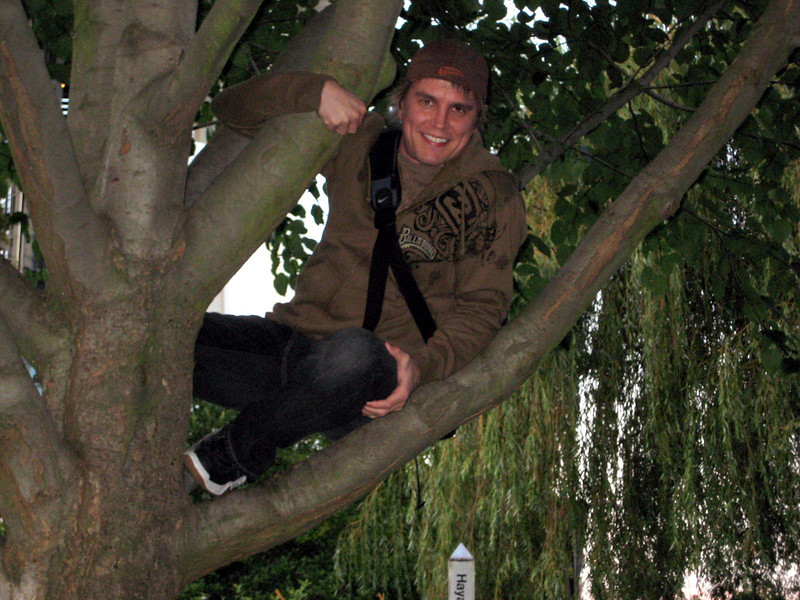 Me...in a tree.