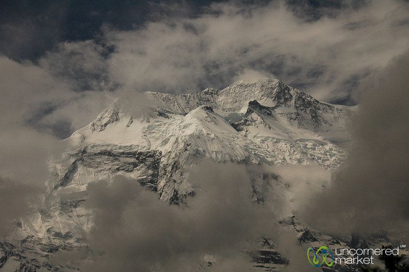 Clouds Clear Away from the Peak of Annapurna 2 - Nepal