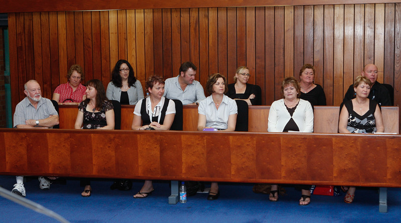 04 August 2008 Townsville, QLD - Family and relatives of the missing sailors from Kaz II during the inquest at Townsville Magistrates court - Photo: Cameron Laird (Ph: 0418 238811)