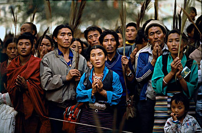 Pilgrims receiving the Kalachakra Initiation in Sarnath, India.