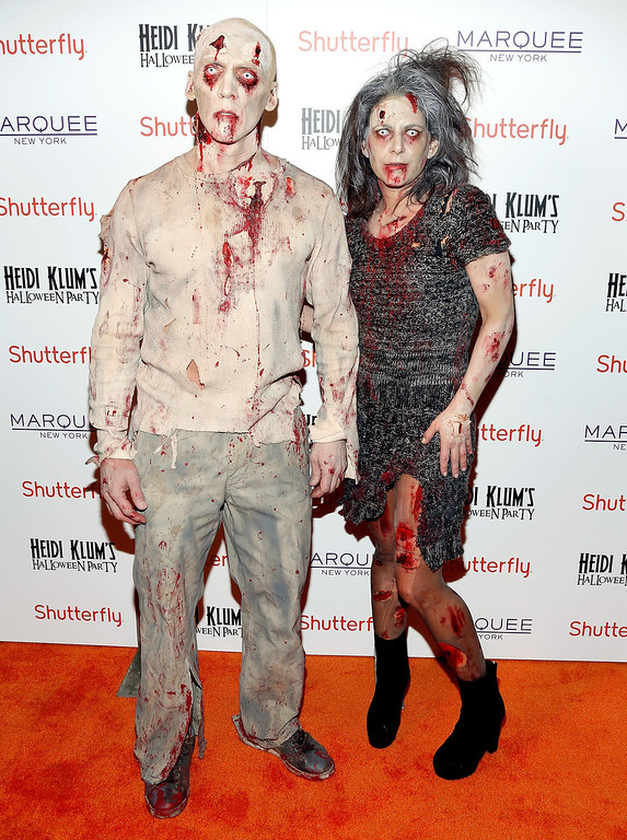. David Kirsch (L) attends Shutterfly Presents Heidi Klum\'s 14th Annual Halloween Party sponsored by SVEDKA Vodka and smartwater at Marquee on October 31, 2013 in New York City.  (Photo by Cindy Ord/Getty Images for Heidi Klum)