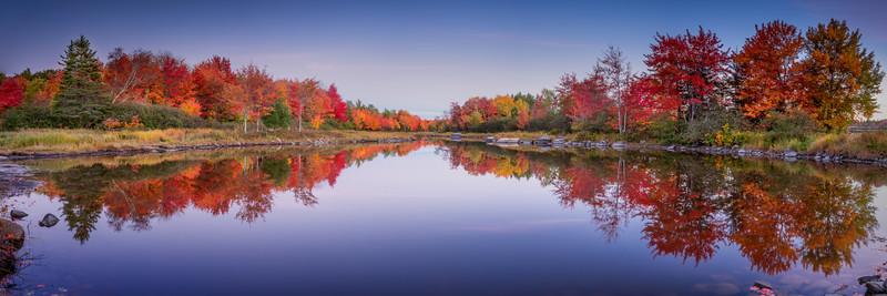 Fall Panorama, Bar Harbor, Maine