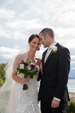 Melanie + Marc Wedding Frankfort Michigan Oliver Art Center