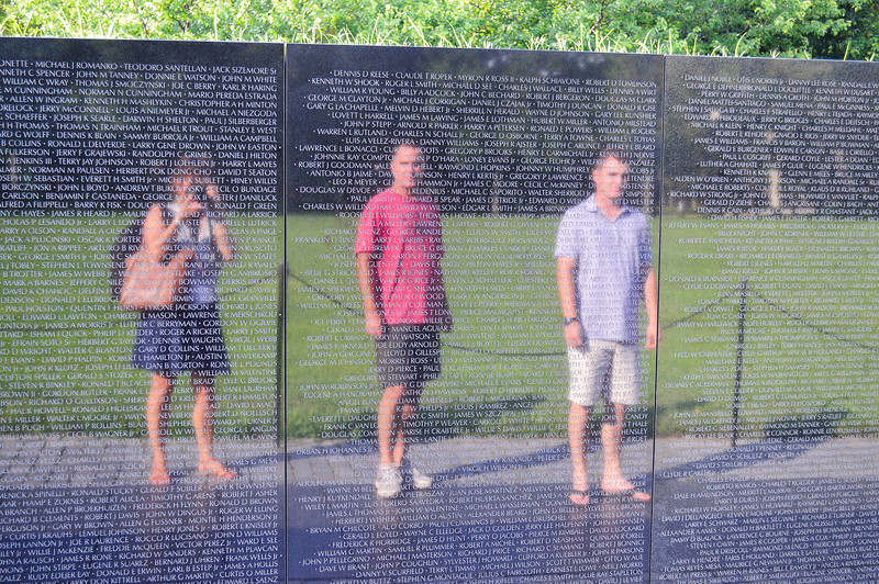 Reflection in the Vietnam Memorial Wall