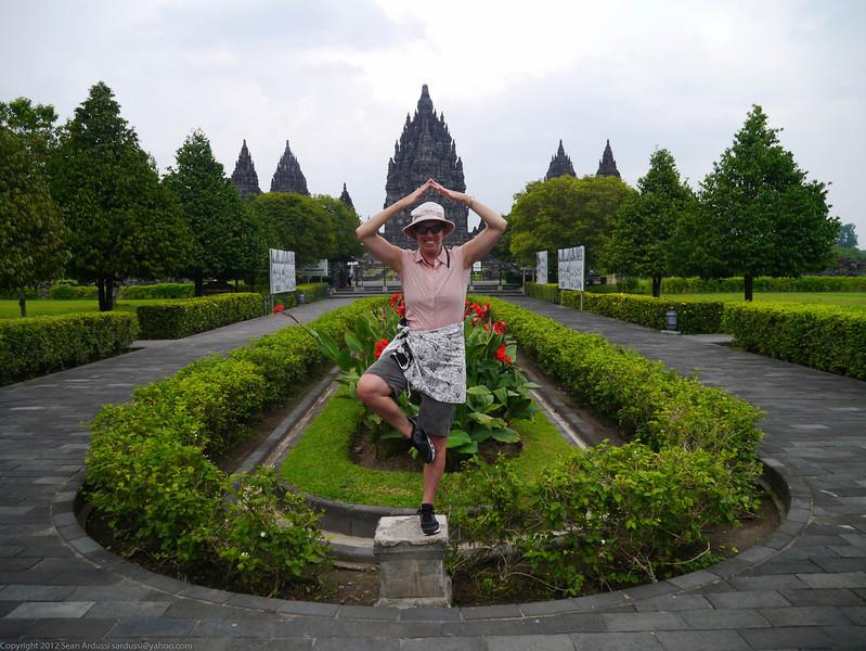 Susan at Prambanan, Island of Java