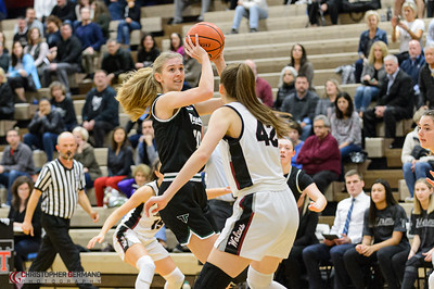 Tigard High School Varsity Girls Basketball vs Tualatin - Away